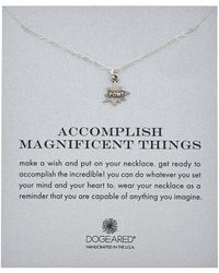 Dogeared - Reminder Collection Pow! Silver Necklace - Lyst