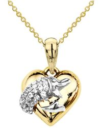 Tia Collections - 14kt Gold & Diamond Dolphin Pendant - Lyst
