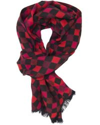 Dibi - Red Diamond Scarf - Lyst