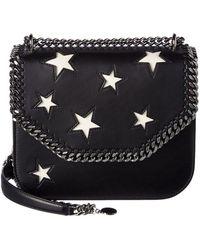 Stella McCartney - Falabella Box Stars Shoulder Bag, Black - Lyst