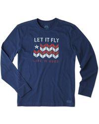 Life Is Good. - ? Long Sleeve Crusher T-shirt - Lyst