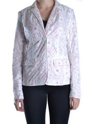Add - Women's Mcbi007001o White Polyamide Blazer - Lyst