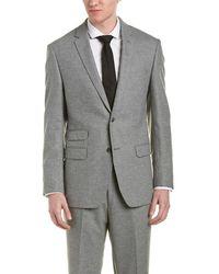 DKNY - Dixon Silk & Wool-blend Suit W/ Flat Front Pant - Lyst