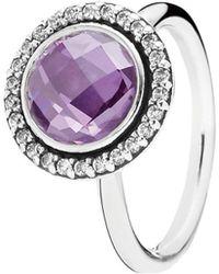PANDORA - Brilliant Legacy Silver Cz Ring - Lyst