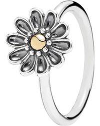 PANDORA - Oopsie Daisy 14k & Silver Flower Ring - Lyst