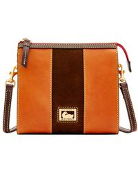 Dooney & Bourke - Florentine Suede North South Janine Crossbody - Lyst