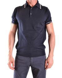 Ballantyne - Men's Mcbi032001o Blue Cotton Polo Shirt - Lyst