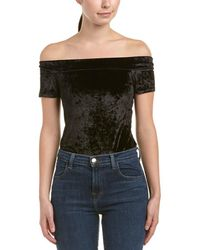 BCBGeneration | Off-the-shoulder Velvet Bodysuit | Lyst