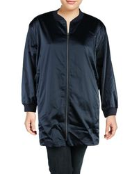 Two By Vince Camuto - Womens Plus Fall Satin Bomber Jacket - Lyst