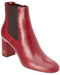 Saint Laurent - Lou Lou Leather Ankle Boot - Lyst