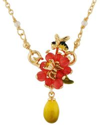 Les Nereides - Balad In Versailles Berries With Bee And Lemon Necklace - Lyst
