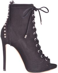 Ninalilou - Women's Black Suede Ankle Boots - Lyst