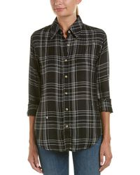 Tolani - Contrast Buttondown Top - Lyst