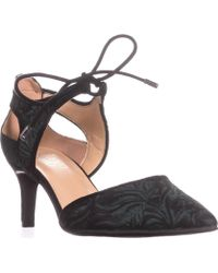 Franco Sarto - Darlis Lace Up Dress Court Shoes, Green Fabric - Lyst