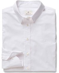 GANT - Women's White Cotton Shirt - Lyst