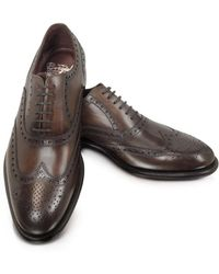 Fratelli Borgioli - Men's Brown Leather Lace-up Shoes - Lyst