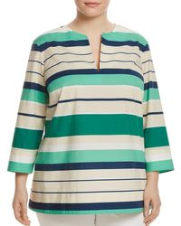 Lafayette 148 New York - Moria Striped Cotton Blouse - Lyst