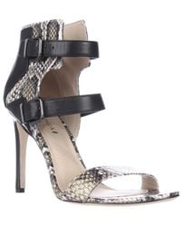 Via Spiga - Evangeline Double Strap Sandals - Roccia Black - Lyst