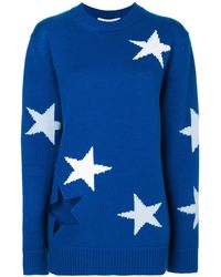 Givenchy - Star Intarsia Knitted Jumper - Lyst
