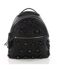 21ea98f3d563 Fendi - Pre Owned By The Way Flowerland Backpack Embellished Leather Medium  - Lyst