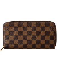 Louis Vuitton - Womens Damier Ebene Canvas Zippy Wallet - Lyst