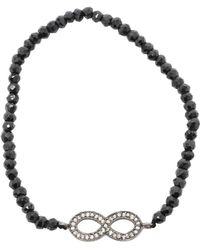 Adornia - Diamond And Black Spinel Infinity Bracelet - Lyst