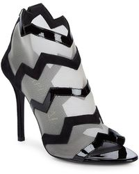 Aperlai - Leather Zigzag Booties - Lyst