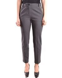 Pinko - Women's Mcbi242210o Grey Viscose Pants - Lyst