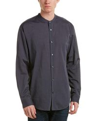 Vince - Banded Collar Woven Shirt - Lyst