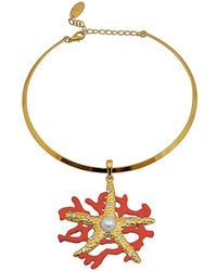 Gottex - Sea Star 18k Plated Crystal Necklace - Lyst