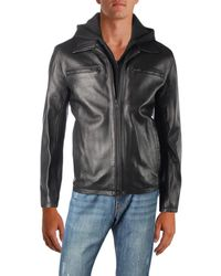 Vince Camuto - Mens Fall Lightweight Leather Jacket - Lyst