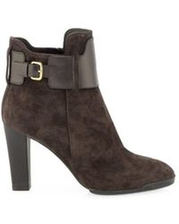 Tod's - Women's Brown Ankle Boots - Lyst