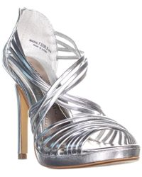 Chinese Laundry - Imagine Strappy Sandals, Metallic Silver - Lyst