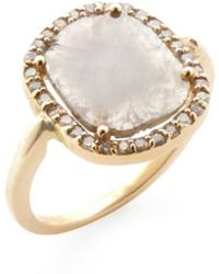 Adornia - 18k Yellow Gold Gemma Diamond Slice Ring - Lyst