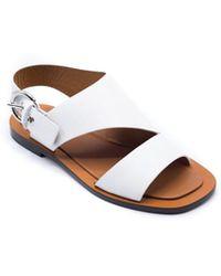 Céline   Womens White Bam Bam Graphic Flat Sandals   Lyst