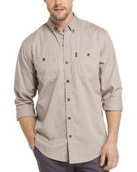 G.H.BASS - G.h. Bass & Co. Mens Twill Wicking Button-down Shirt - Lyst