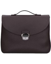 Orciani - Men's Brown Leather Briefcase - Lyst