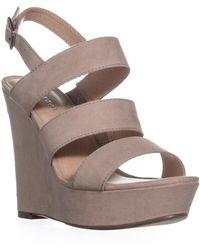 Madden Girl - Blenda Wedge Ankle Strap Sandals, Blush - Lyst