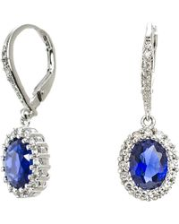 CZ by Kenneth Jay Lane - 4cttw Oval Cz Pave Ears - Lyst