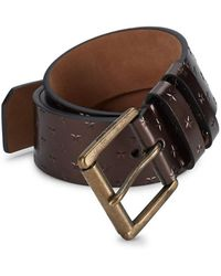 Jimmy Choo - Archer Leather Embossed Star Belt - Lyst