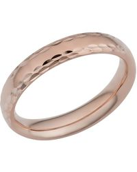 Jewelry Affairs - 14k Rose Gold Diamond Cut 4mm Wide Wedding Band Ring, Size 11 - Lyst