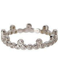 Adornia - Sterling Silver Crown Band - Lyst