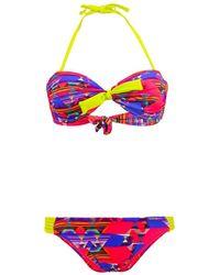 Banana Moon - Pink Bandeau Two Pieces Swimsuit Macaozumba Daytona - Lyst