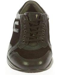Cesare Paciotti - Men's Black Leather Sneakers - Lyst