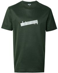 Lanvin - Men's Green Cotton T-shirt - Lyst