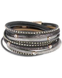 Saachi - Multi Strand Leather Bracelet - Lyst