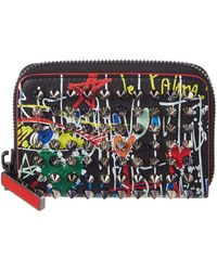 Christian Louboutin - Panettone Graffiti Leather Coin Purse - Lyst