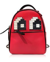 Les Petits Joueurs | Women's Red Leather Backpack | Lyst