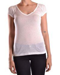 Peuterey - Women's White Cotton T-shirt - Lyst