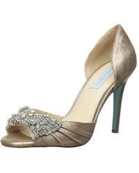 Betsey Johnson - Womens Sb Gown Open Toe D-orsay Pumps - Lyst